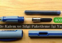 Evde Kalem ve Silgi Paketleme İşi Yapma   800 TL