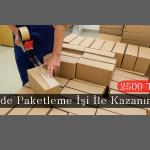 Evde Paketleme İşi İle 2500 TL Kazanın